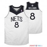Brooklyn Nets - Maillot NBA Deron Michael Williams 8 Blanc Noir