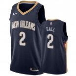 Orleans Pelicans-Maillot NBA Lonzo Ball 2 Marine Icon 2019-20