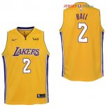 Los Angeles Lakers - Maillot Junior NBA Lonzo Ball 2 Jaune