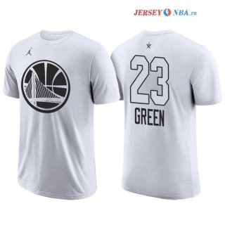 2018 All Star - Maillot NBA Draymond Green 23 Blanc Manche Courte
