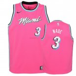 Miami Heat - Maillot Junior NBA Dwyane Wade 3 Rose Earned Edition