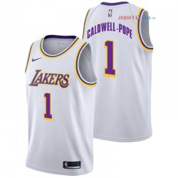 Los Angeles Lakers - Maillot NBA Kentavious Caldwell Pope 1 Blanc Association 2018/2019