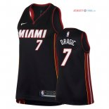 Miami Heat - Maillot Femme NBA Goran Dragic 7 Noir Icon 2018