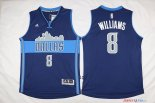 Dallas Mavericks - Maillot NBA Deron Michael 8 Williams Bleu Profond