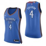Oklahoma City Thunder - Maillot Femme NBA Nick Collison 4 Bleu Icon 2017/2018