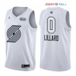 2018 All Star - Maillot NBA Damian Lillard 0 Blanc