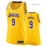 Los Angeles Lakers - Maillot Femme NBA Rajon Rondo 9 Jaune Icon 2018/2019