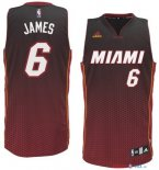 Miami Heat - Maillot NBA James 6 Rouge Retentisse Fashion