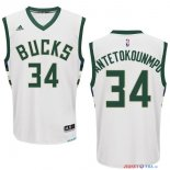 Milwaukee Bucks - Maillot NBA Giannis Antetokounmpo 34 Blanc