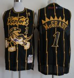 Toronto Raptors - Maillot NBA Tracy McGrady 1 Retro Or Noir 1998-99