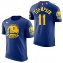 Golden State Warriors - Maillot NBA Klay Thompson 11 Bleu Manche Courte 2017/2018