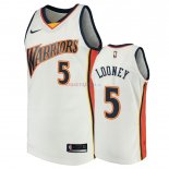 Golden State Warriors - Maillot NBA Kevon Looney 5 Blanc Throwback