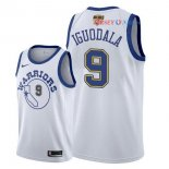 Golden State Warriors - Maillot NBA Andre Iguodala 9 Retro Blanc 2018 Finales Champions