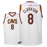 Cleveland Cavaliers - Maillot Junior NBA Jordan Clarkson 8 Blanc Association 2018