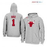 Chicago Bulls - Sweat Capuche NBA Derrick Rose 1 Gris