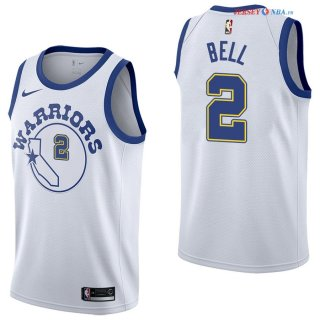 Golden State Warriors - Maillot NBA Jordan Bell 2 Nike Retro Blanc 2017/2018