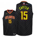 Atlanta Hawks - Maillot Junior NBA Vince Carter 15 Noir Icon 2018/2019