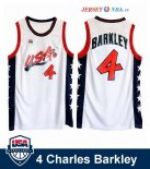 1996 USA - Maillot NBA Charles Barkley 4 Blanc