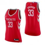 Houston Rockets - Maillot Femme NBA Ryan Anderson 33 Rouge Icon 2017/2018