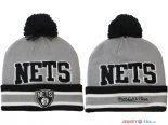 Brooklyn Nets - 2017 Tricoter un Bonnet NBA Gris 4