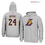 Los Angeles Lakers - Sweat Capuche NBA Kobe Bryant 24 Gris