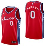 Philadelphia Sixers - Maillot NBA Jacob Pullen 0 Rouge Statement 2017/2018