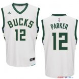 Milwaukee Bucks - Maillot NBA Jabari Parker 12 Blanc