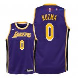 Los Angeles Lakers - Maillot Junior NBA Kyle Kuzma 0 Pourpre Statement 2018/2019