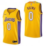 Los Angeles Lakers - Maillot NBA Kyle Kuzma 0 Jaune Icon 2017/2018