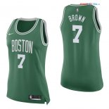Boston Celtics - Maillot Femme NBA Jaylen Brown 7 Vert Icon 2017/2018