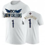 New Orleans Pelicans-T-Shirt NBA Zion Williamson Blanc