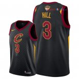 Cleveland Cavaliers - Maillot NBA George Hill 3 Noir Statement Patch 2018 Finales Champions