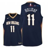 New Orleans Pelicans - Maillot Junior NBA Jrue Holiday 11 Marine Icon 2018