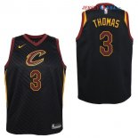Cleveland Cavaliers - Maillot Junior NBA Isaiah Thomas 3 Noir Statement