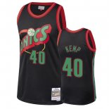 Seattle SuperSonics - Maillot NBA Shawn Kemp 40 Noir 2018 Noël