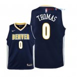 Denver Nuggets - Maillot Junior NBA Isaiah Thomas 0 Marine Icon 2018