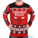 Chicago Bulls - NBA Unisex Ugly Sweater Rouge