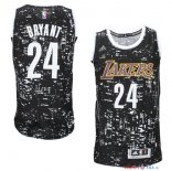 Los Angeles Lakers - Maillot NBA Bryant 24 Noir Ville Lumières