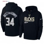 Milwaukee Bucks - Sweat Capuche NBA Giannis Antetokounmpo 34 Noir