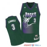 Milwaukee Bucks - Maillot NBA Brandon Jennings 3 Vert