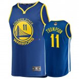 Golden State Warriors - Maillot NBA Klay Thompson 11 Bleu Icon 2019 Finales Champions