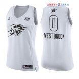2018 All Star - Maillot Femme NBA Russell Westbrook 0 Blanc