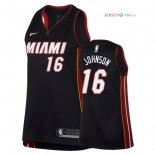 Miami Heat - Maillot Femme NBA James Johnson 16 Noir Icon 2018