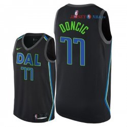 Dallas Mavericks - Maillot NBA Luka Doncic 77 Nike Noir Ville 2018