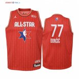 2020 All Star-Maillot Junior NBA Luka Doncic 77 Rouge