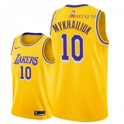 Los Angeles Lakers - Maillot NBA Season Sviatoslav Mykhailiuk 10 Jaune Icon 2018/2019
