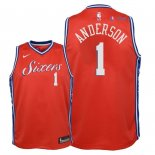 Philadelphia Sixers - Maillot Junior NBA Justin Anderson 1 Rouge Statement 2018