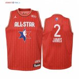 2020 All Star-Maillot Junior NBA Lebron James 2 Rouge