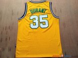 Seattle Supersonics - Maillot NBA Kevin Durant 35 Retro Jaune