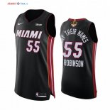 Miami Heat - Maillot NBA Duncan Robinson 55 BLM Noir Icon 2020 Finales Champions